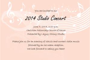 2014 recital invite